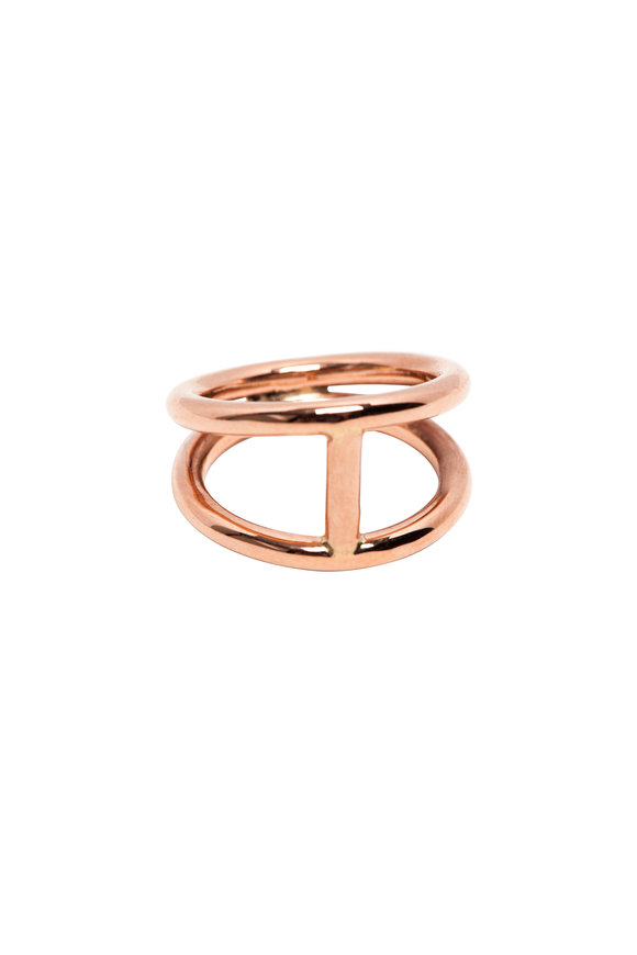 Genevieve Lau Rose Gold Johannesburg Double Ring