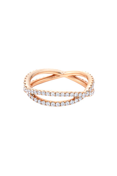 Kwiat - 18K Pink Gold Diamond Fidelity Band