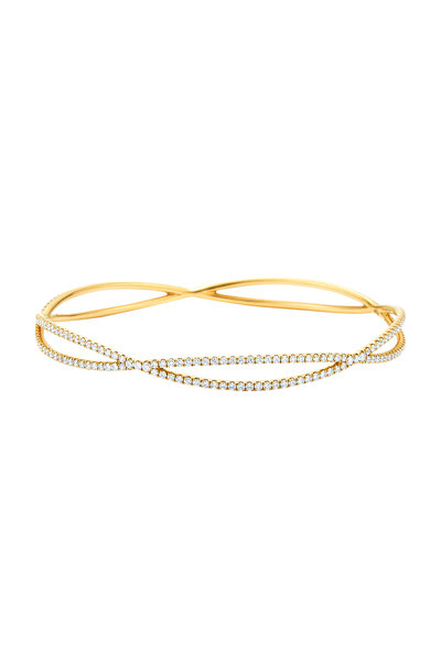 Kwiat - 18K Yellow Gold Diamond Fidelity Bangle