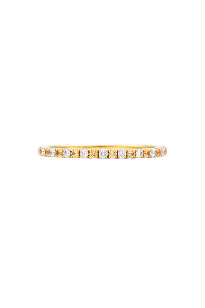 Kwiat - 18K Gold Alternating Diamond & Sapphire Band