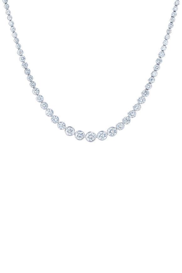 Kwiat 18K White Gold Diamond Riviera Necklace