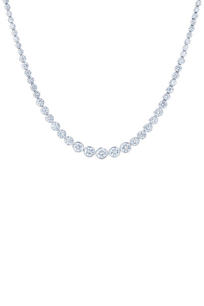 Kwiat - 18K White Gold Diamond Riviera Necklace
