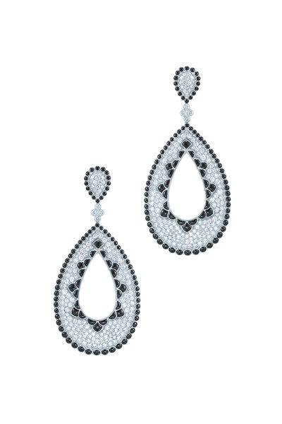 Kwiat - 18K White Gold Diamond Drop Earrings