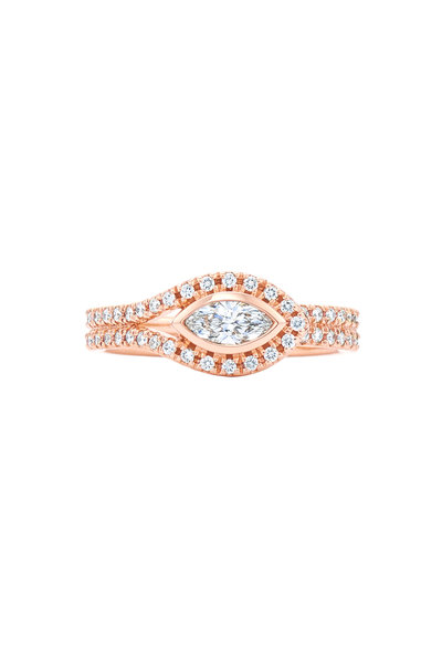 Kwiat - 18K Pink Gold Diamond Ring