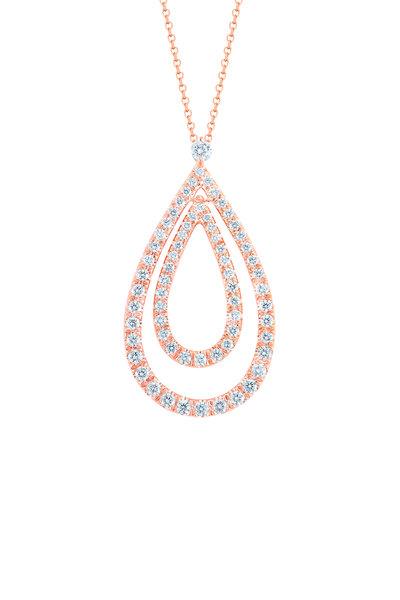Kwiat - 18K Pink Gold Diamond Pendant Necklace