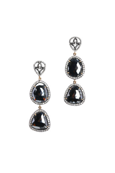 Loren Jewels - Diamond & Black Spinel Earrings