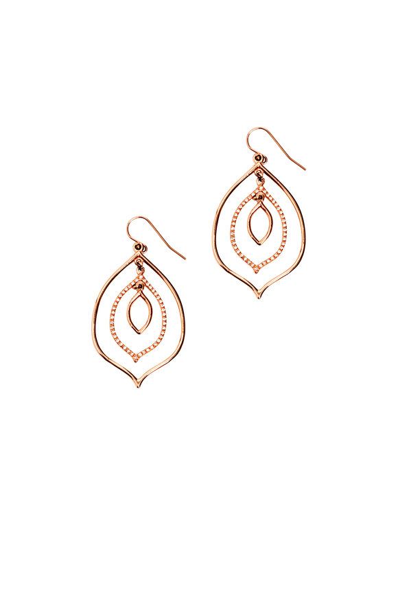Genevieve Lau Rose Gold Sao Paulo Layered Diamond Earrings