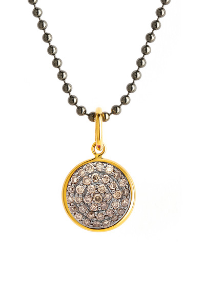 Syna - Chakra Reversible Pendant With Black & Champagne Diamonds