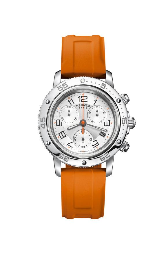 Hermès Clipper Chronograph Watch, 36 mm