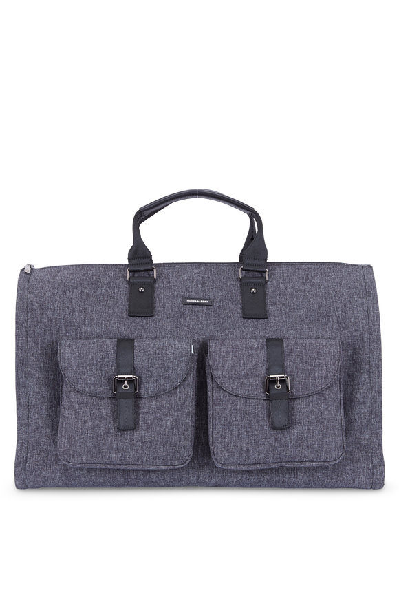 Hook + Albert Gray Mélange Performance Fabric Weekender