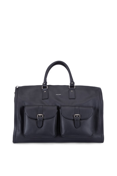 Hook + Albert - Black Leather Garment Weekender Bag