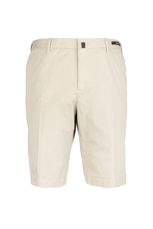 PT01 Khaki Stretch Cotton Bermuda Shorts