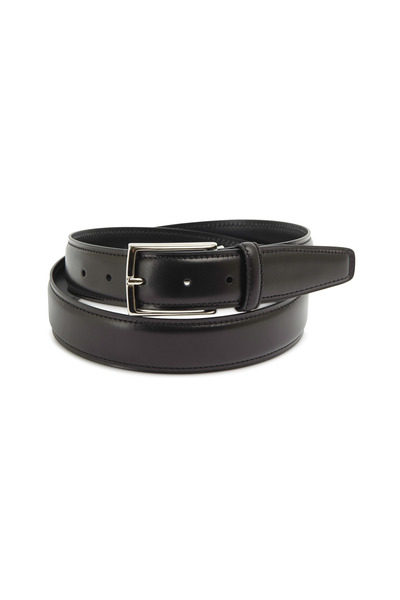 Ermenegildo Zegna - Black Leather Dress Belt