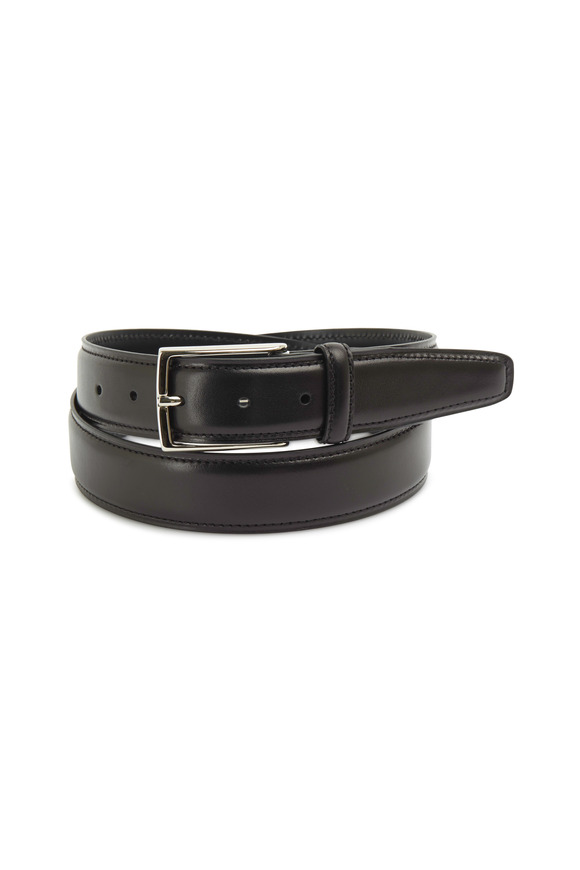 Ermenegildo Zegna Brown Leather Dress Belt