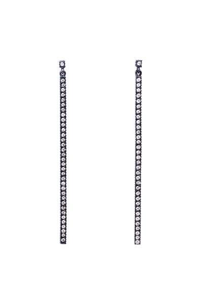 Yossi Harari - Lilah Sterling Silver Pavé-Set Diamond Earrings