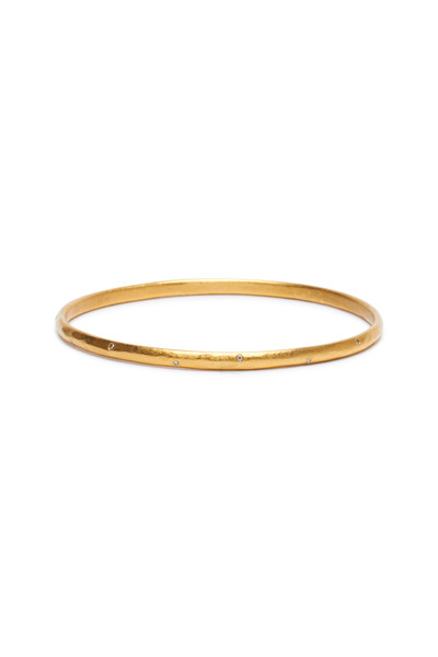 Yossi Harari - Mica Yellow Gold Diamond Bangle