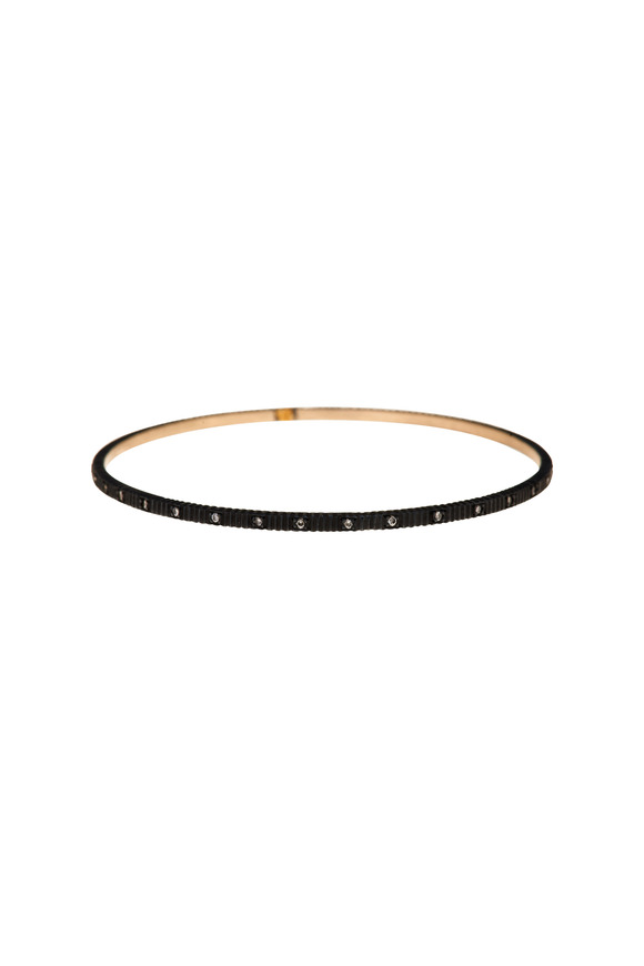 Yossi Harari Gold & Silver Diamond Lilah Bangle