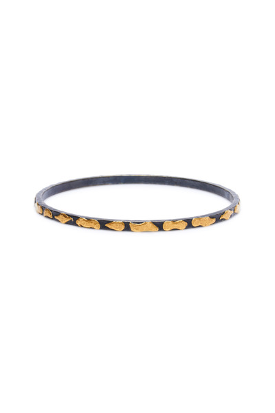 Yossi Harari - Libra Mica Oxidized Gold & Silver Bangle