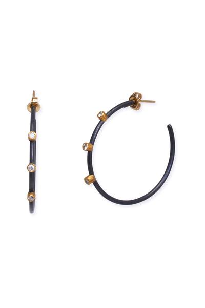 Yossi Harari - Jane Gilver Diamond Hoop Earrings