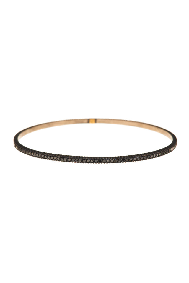 Oxidized Gilver Black Diamond Lila Bangle