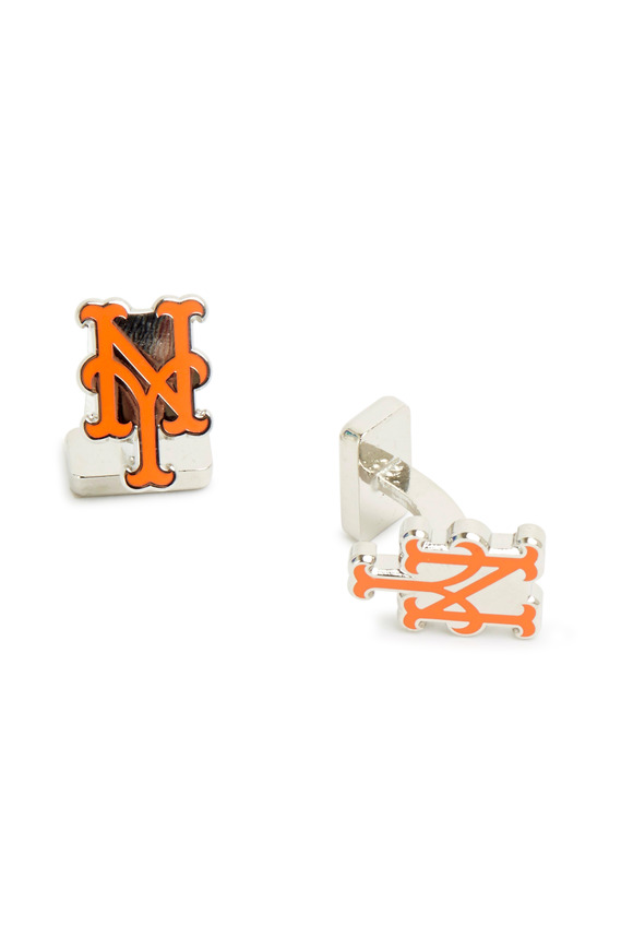 Cufflinks Inc Sterling Silver New York Mets Cuff Links