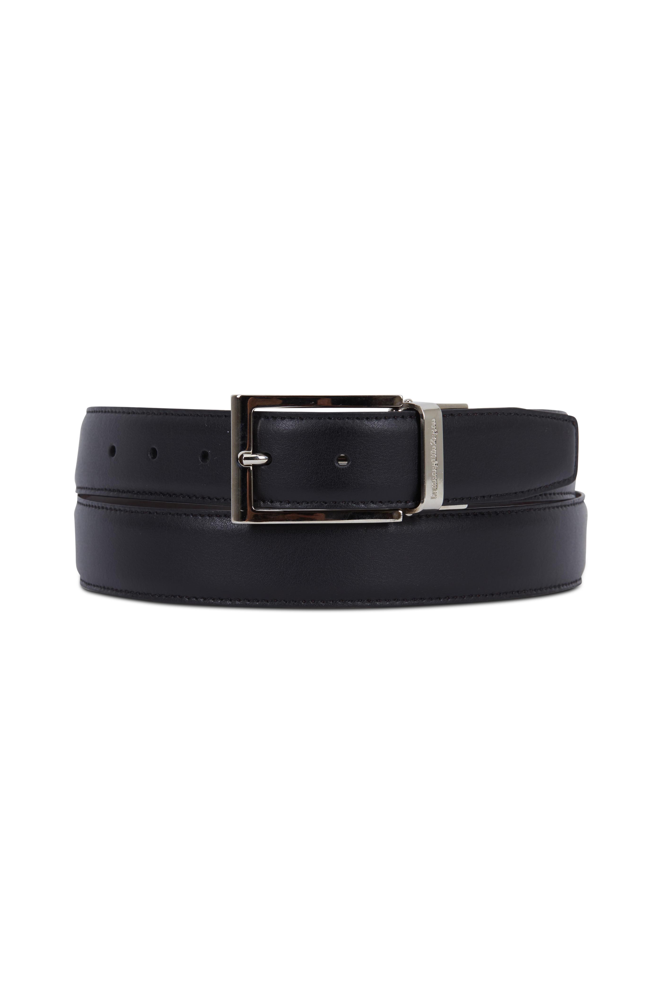5ac5b83d03 Ermenegildo Zegna - Dark Brown & Black Leather Reversible Belt ...