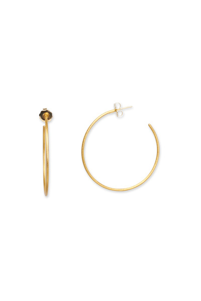 Yossi Harari - Yellow Gold Jane Large Hoop Earrings