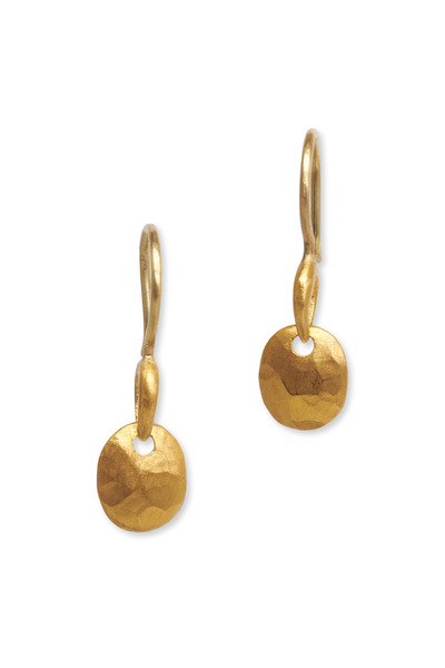 Yossi Harari - Gold Extra Small Rose Earrings