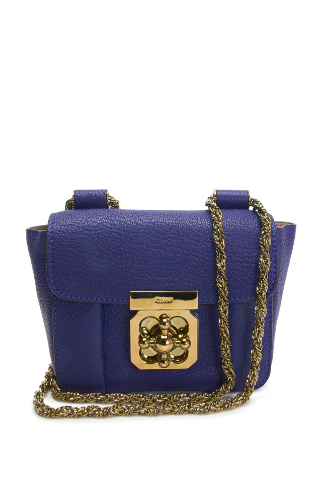 Elsie Blue Leather Mini Crossbody Bag