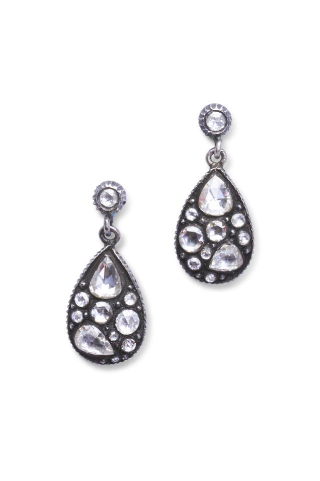 Sara Rose-Cut Mosaic Diamond Earrings