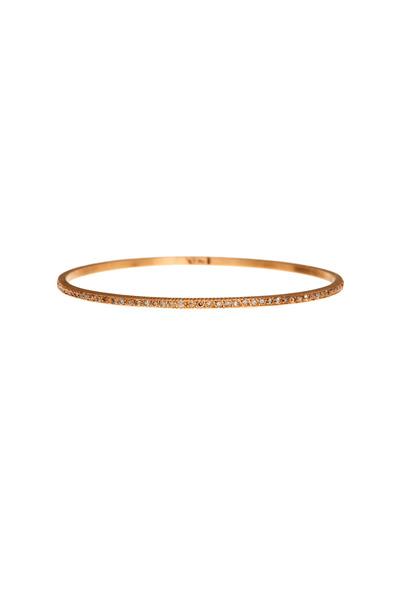 Yossi Harari - Rose Gold Pavé-Set Champagne Diamond Bangle