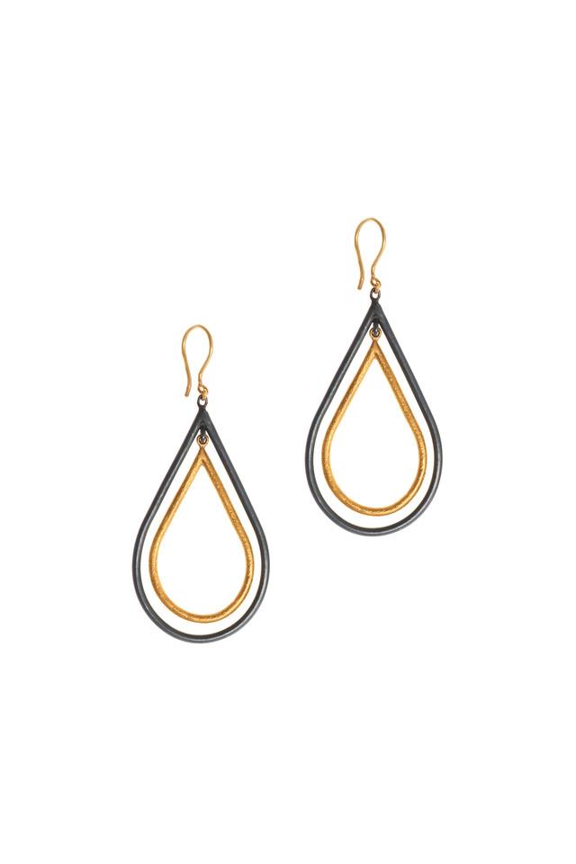 Rachel Yellow Gold Double Teardrop Earrings
