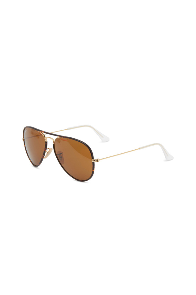Aviator Full Color Gold Brown Sunglasses