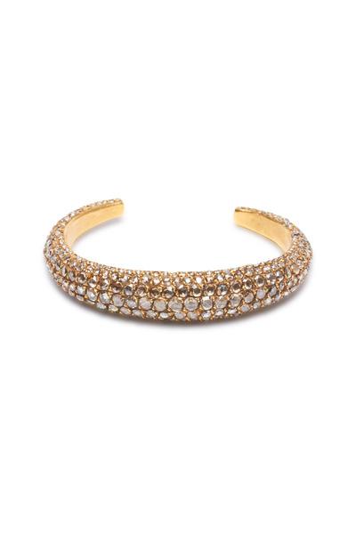 Yossi Harari - Roxanne Yellow Gold Cognac Diamond Cuff Bracelet