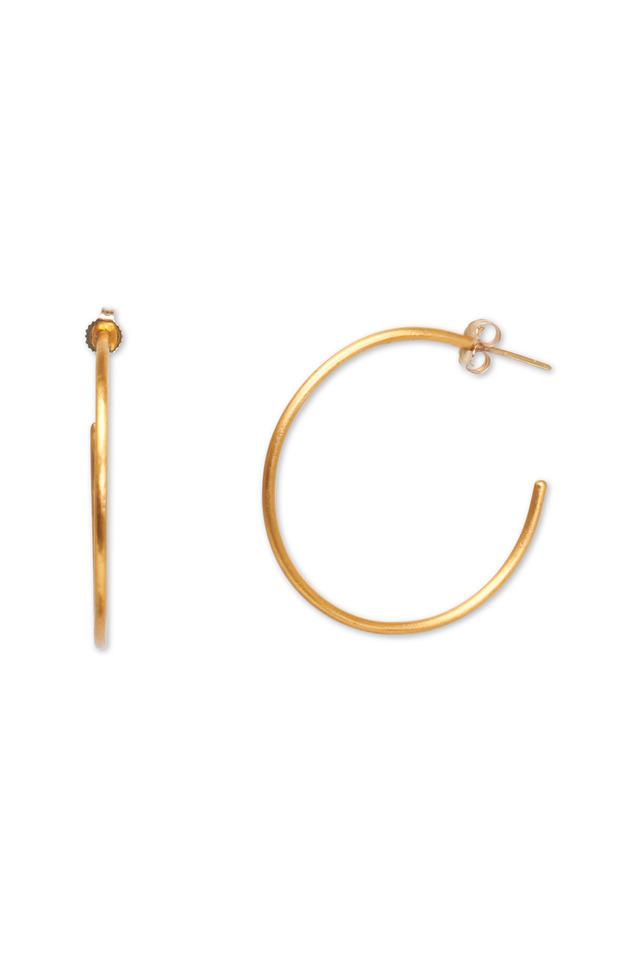 Yellow Gold Medium Jane Hoop Earrings