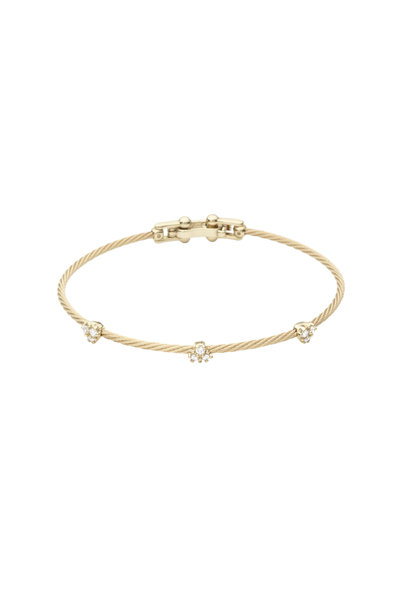 Paul Morelli - Yellow Gold Wire Diamond Bracelet