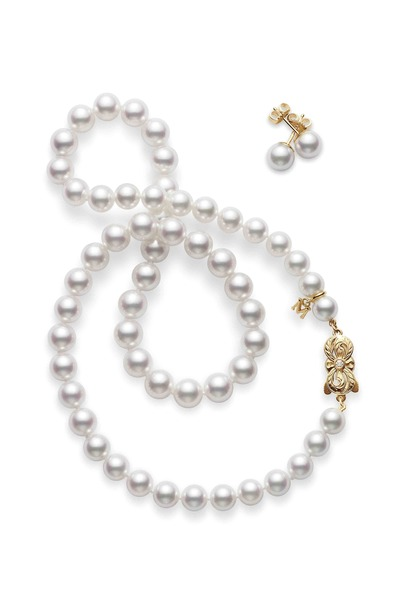 Mikimoto - Yellow Gold A1 Pearl Necklace