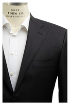 Canali - Black Worsted Wool Suit