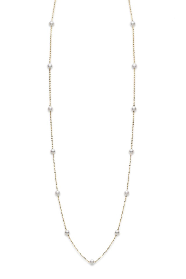 White Gold Akoya Pearl Necklace