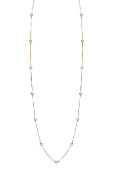 Mikimoto - White Gold Akoya Pearl Necklace