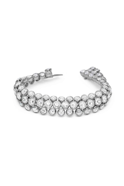 Louis Newman - Triple Row Diamond Bracelet