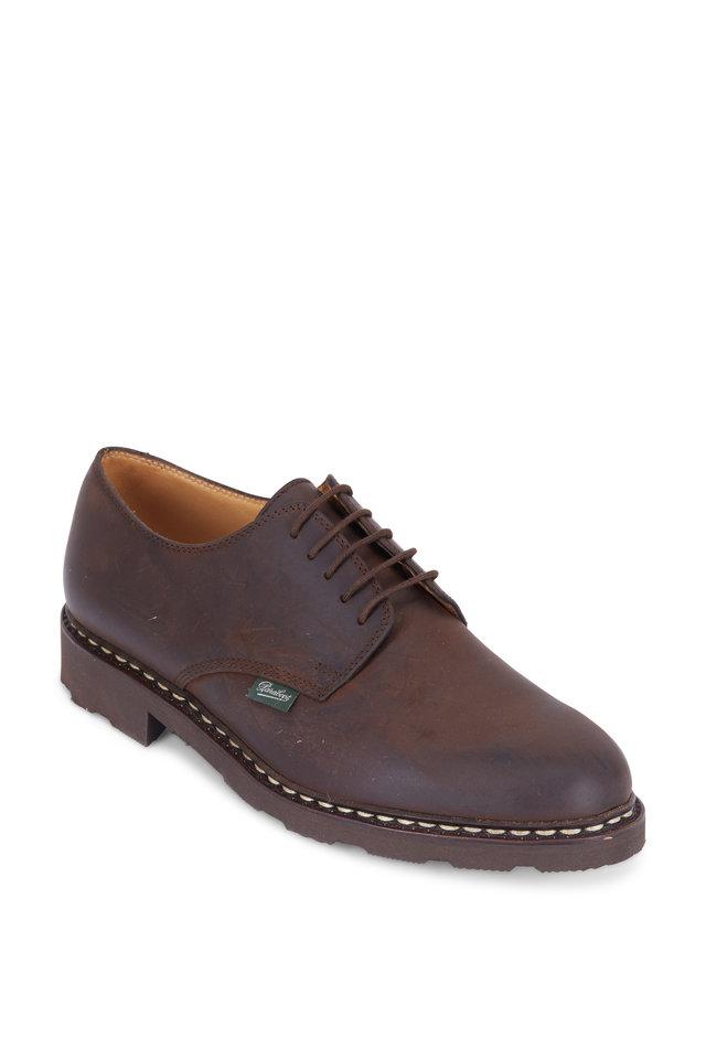 Arles Dark Brown Nubuck Derby Shoe