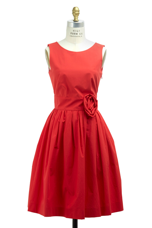 Red Cotton Dress