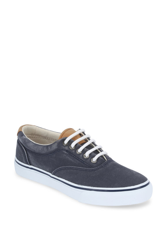 Sperry Striper Navy Blue CVO Canvas Sneaker