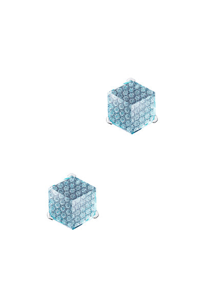 Paolo Costagli - 18K White Gold Diamond & Topaz Studs