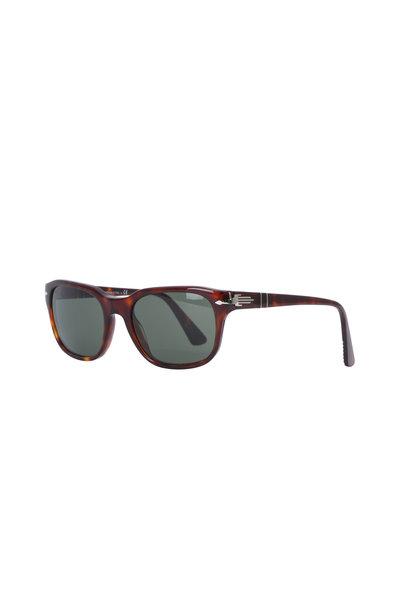 Persol - Brown Tortoise Square Frame Sunglasses