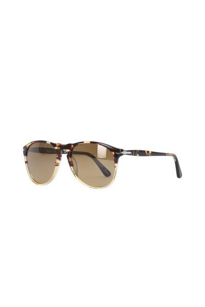 Persol - Pilot Matta Havana Sunglasses