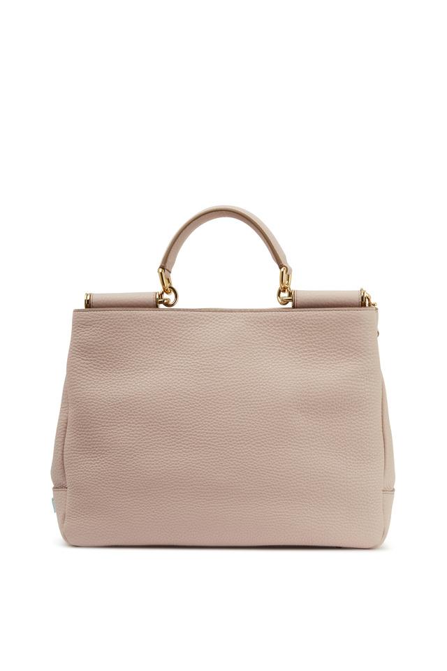 Miss Sicily Cipria Leather Medium Bag