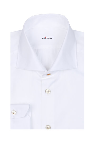 Kiton - White Dress Shirt