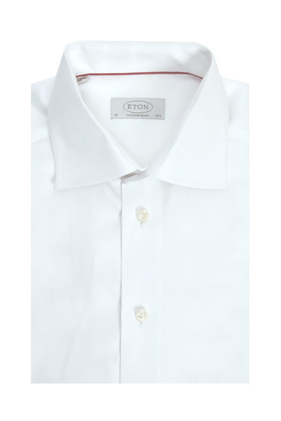Eton - White Twill Contemporary Dress Shirt